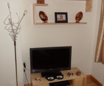 Native Ash TV Cabinet with bespoke shelves