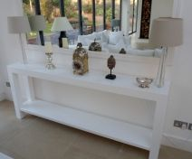 Bespoke painted console table