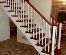 Bespoke Polished Utile and painted Staircase