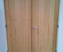 Made to Measure Polished Oak Double Door