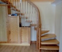 Curved Quarter Turn Ash Staircase