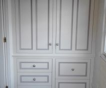 Painted Cabinet With Drawers