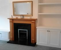 Painted Fitted Alcove Cabinets with Open Shelving