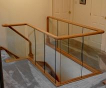 Glass Banister Staircase Revamp with Continuous Handrail