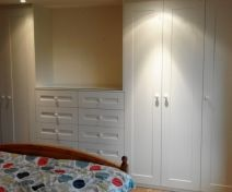 Painted Bedroom Fitted Wardrobe with Drawers