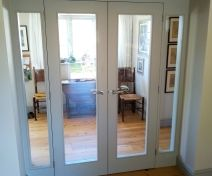 Painted Double Internal Doors with Sidelights