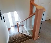 Polished Maple Glass Banister Revamp