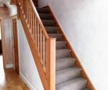 Polished Oak Staircase Revamp with Spindles
