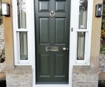 Pre-finished Accoya 6 Panel Exterior Door and Frame