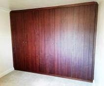 Polished and Stained Utile Wardrobe