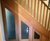 Polished Oak Under Stairs Cupboard Front