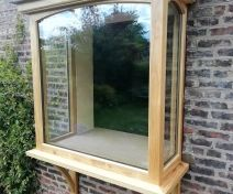 Accoya Bay Window with Arched Top Double Glazed Units Finished with Two Top Coats of Osmo Oil