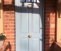 Spray Finish Accoya External Door with Brass Fittings