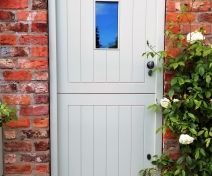 Pre-finished Accoya/Medite Extreme Tricoya Stable Door with Pewter Finish Ironmongery