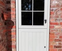 Pre-finished Accoya/Medite Extreme Tricoya Double Glazed Stable Door with Pewter Finish Ironmongery
