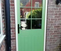 Pre-Finished External Accoya and Tricoya Doors with Vertical Boards